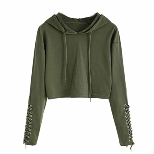 079e1d19813a FDelinK Clearance Women Teen Girls Hoodie Sweatshirt Jumper Sweater Crop  Sports Pullover Tops