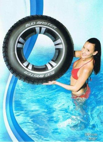MQ XL Schwimmreifen Schwimmring Autoreifen 91cm aufblasbar