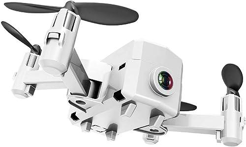 KAIFH Drone 480P HD Fotocamera Streaming Antenna WiFi Pieghevole Drone A Quattro Assi Intelligente Seguito Aeromobili Telecomando Giocattolo Aereo One-Click Return Nessuna Modalità Testa,2