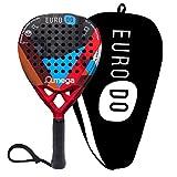 EURODO Padel Racket - Racchetta da Paddle in Fibra di Carbonio per Giocatori di tutti i livelli...