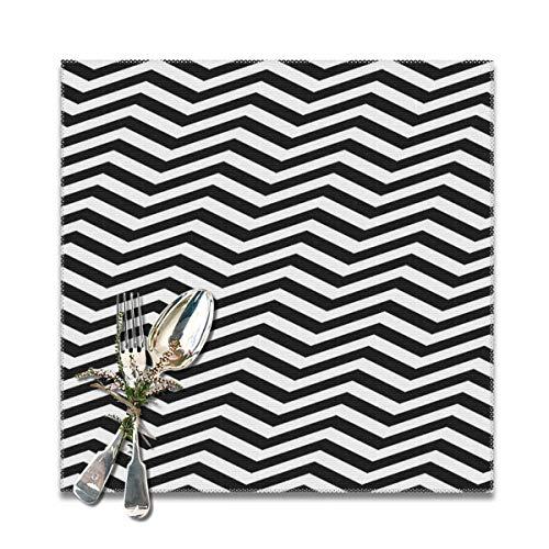 Rterss Zig Zag Chevron Geometrische naadloze op maat gemaakte Placemats wasbare tafelmatten Set anti-slip isolatie van 12x12 in (6st)