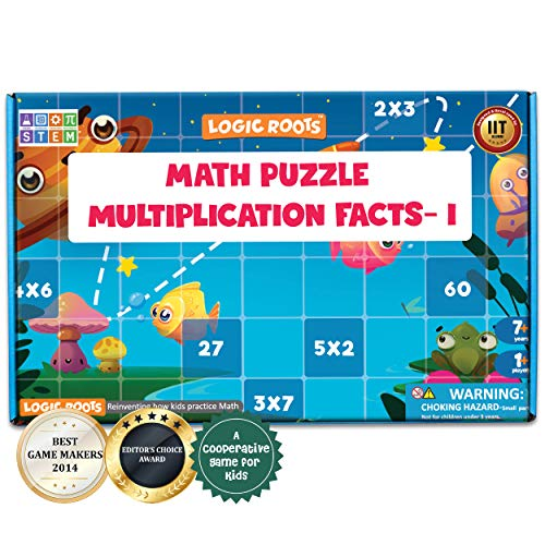LogicRoots Math Puzzles for Kids, Learn Multiplication Table 2-6, 6 Multiplication Puzzles for Kids, Say No to Flash Cards, (Great Puzzle Gifts for Girls and Boys - Best for 6 to 10 Year Olds)