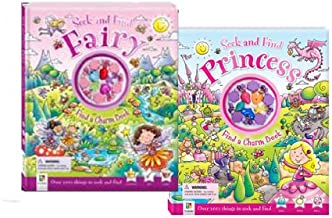 Seek & Find Fairy & Princess 2 Books Collection Set (Find a Charm Book) NEW