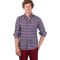 El Ganso 1 Camisa casual, Azul (Azul 0055), Large para Hombre