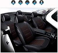 カーシートクッション 本物のカスタムメイドの革カーシートカバーとの互換性、防水透湿性カスタム正確なフィットフルセットカーシートカバー、フロント&RearSeatカバー、フォードモンデオ2013年から2018年 カーシートプロテクター (Color : A)