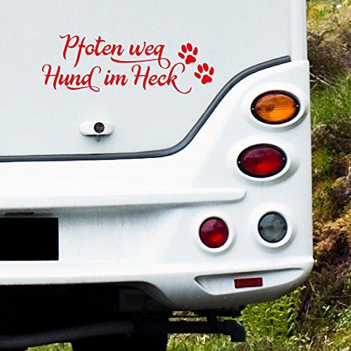 MA108 Clickzilla - camper sticker - Poten weg hond in de achterkant - Grootte: 33 cm x 12 cm (b x h) 29. Lavendel