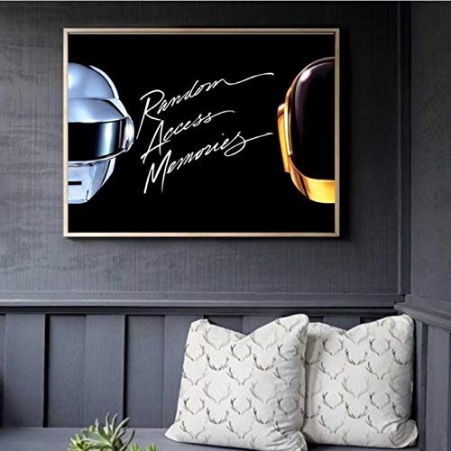yuyu-beautiful Daft Punk Helm Maske Musik Poster Und Drucke Leinwand Poster Wandkunst Und Kunst Leinwand Malerei Druckt Wandbild Für Wohnkultur 50X70Cm Ungerahmt