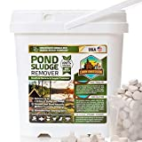 Pond Sludge Remover – Beneficial Pond Bacteria & Enzyme Treatment - 100% Natural Muck Digester – Safe for All Aquatic Life and Recreation - Made in The USA