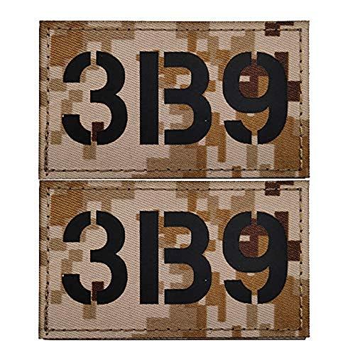 Parche táctico de velcro infrarrojo, SEAL 1b9 / 2b9 / 3b9 / 6b9 b insignia de moral táctica militar para mochila accesorios de ropa 3.35 x 1.97 pulgadas