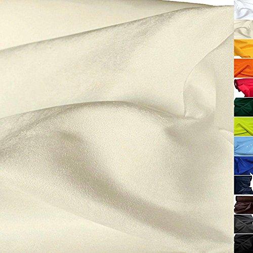 TOLKO Kunstleder Meterware - Wildleder Alcantara-Imitat, Abriebfester Mikrofaser Polsterstoff, Möbelstoff als Sitzbezug, für Kissen (Natur-Creme)