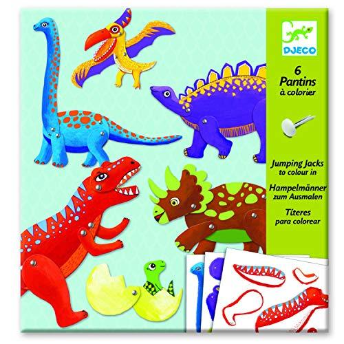 Djeco - Pantins À Colorier Dinosaures