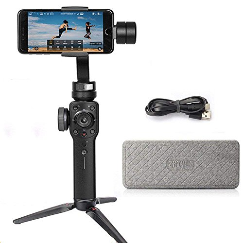 Zhiyun Smooth 4 3-Axis Handheld Gimbal Stabilizer Compatible with iPhone X 8 7 Plus 6 Plus Vertigo Shoot Phonego Mode Focus Pull & Zoom Capability(Can't Support Samsung and Android)