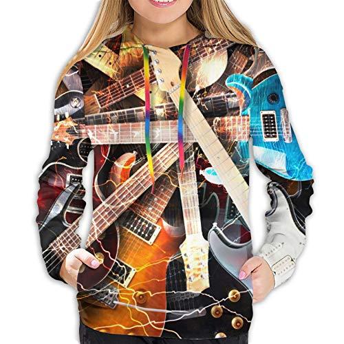 Magic Electric Guitar Music Sudadera con capucha para mujer con capucha y manga larga