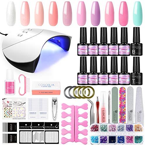 Smalto Gel Semipermanente Kit Coscelia 10 * 7ml Smalti Semipermanenti 36W Lampada Unghie Gel Kit Manicure Professionale