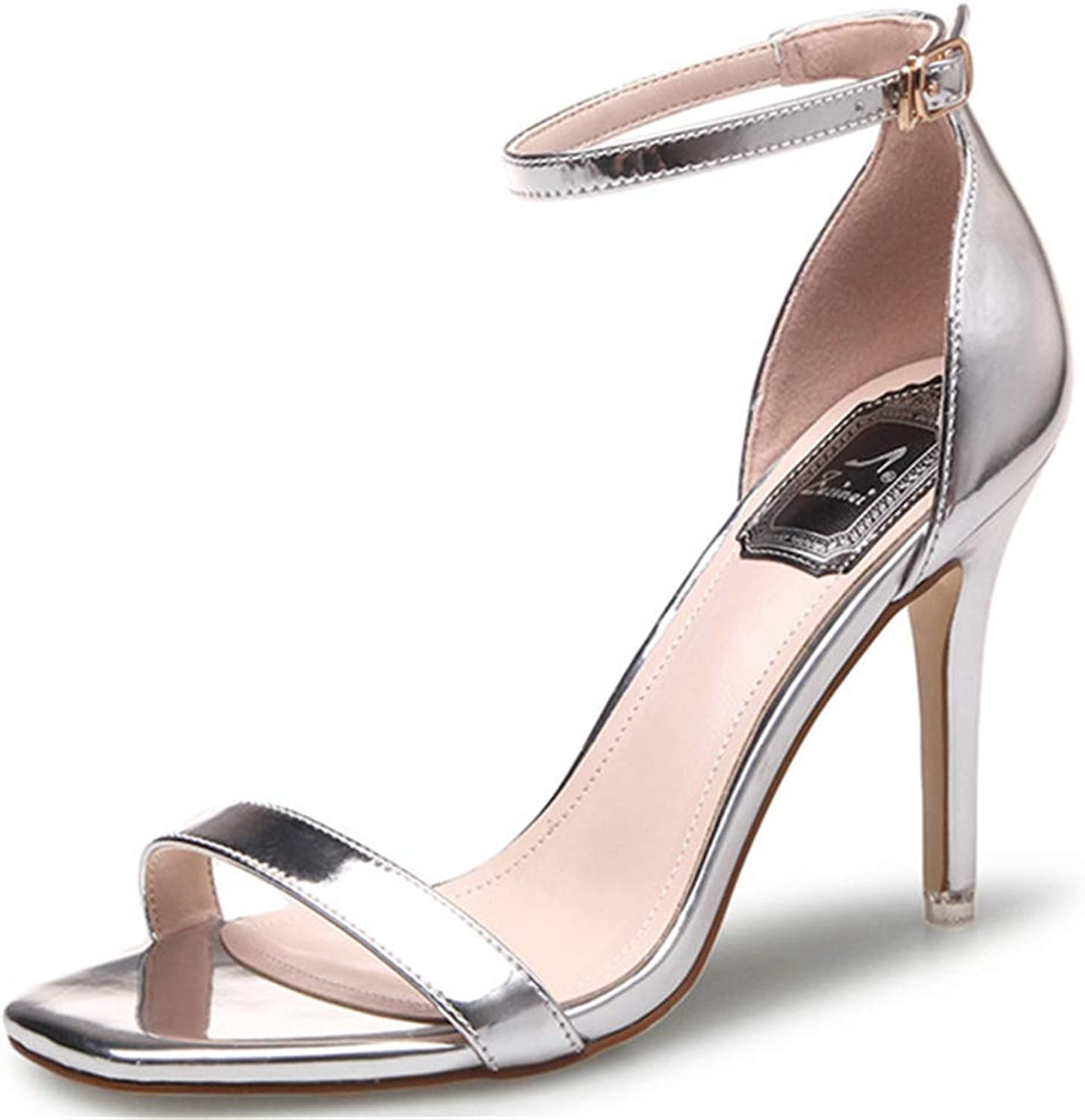 CHENGLing Women's Stiletto Open Toe Sandal Ankle Strap High Heels Sandals Party shoes