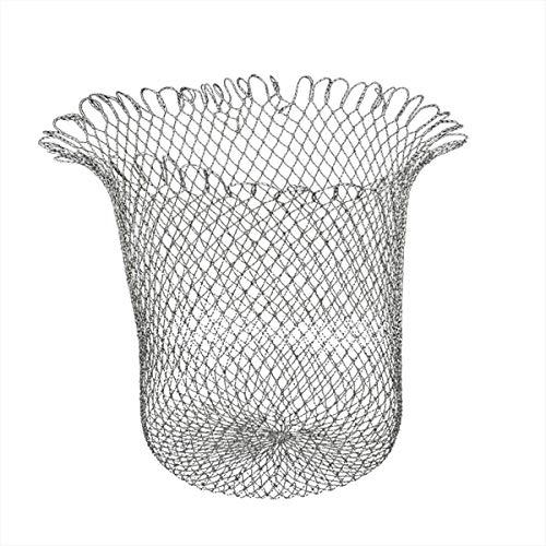 C-HOO 玉網 タモ 替網 玉替え網 ランディングネット タモ網 釣りネット 40cm 50cm 60cm 形が崩れにくい 強い耐久性 黒×白 (50)
