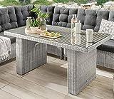 Destiny Loungetisch Riviera 140 x 80 Weiß Lounge Tisch Dininglounge Gartentisch - Ohne Lounge