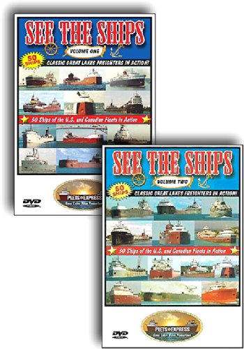 See the Ships - Two DVD Set Max 89% OFF freighters Lake 100 on Tampa Mall Classic