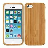 kwmobile Funda Compatible con Apple iPhone SE (1.Gen 2016) / 5 / 5S - Carcasa de bambú para móvil...