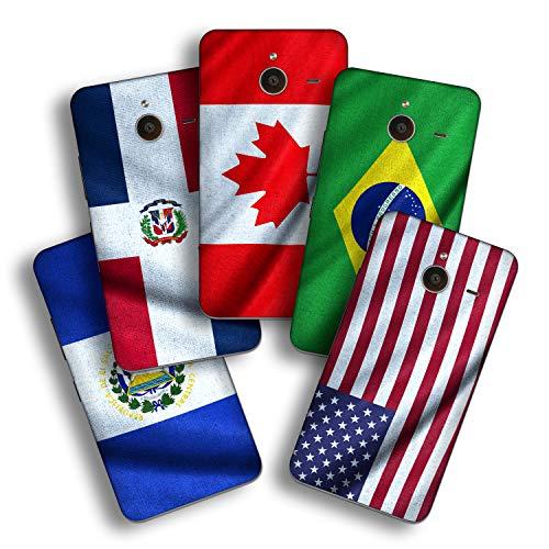 atFolix Designfolie kompatibel mit Microsoft Lumia 640 XL, wähle Dein Lieblings-Design aus, Skin Aufkleber (Flaggen aus Amerika)
