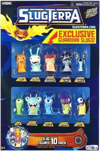 Slugterra Exclusive Mini Figure 10-Pack [Burpy, Spooker, Doc, Buzzsaw, Chiller, Spinner, Bugsy, Guardian Bludgeon, Guardian Stinky & Guardian Joules] by Jakks Pacific