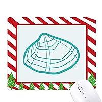 海洋生物のホタテの緑のイラスト ゴムクリスマスキャンディマウスパッド