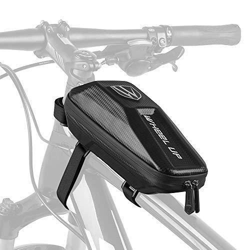 Lixada 2L Borsa da Bicicletta Impermeabile Borsello Appeso per Tubo Anteriore Bici Eva Hard Shell per MTB Bici da Strada