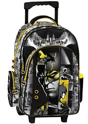 Graffiti Sac à Dos à roulettes Batman 3 Compartiments Gris