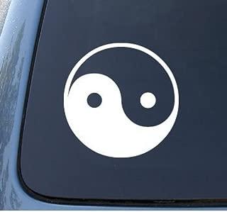 CCI010 - Yin Yang Die Cut Vinyl Window Decal/sticker for Car , Truck, Laptop   5 X 5 In