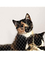 dibea Red para gatos red de seguridad balcón red de protección gatos (S) 3x4 m