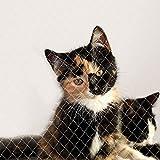 lionto by dibea Red para gatos red de seguridad balcón red de protección gatos (M) 3x8 m