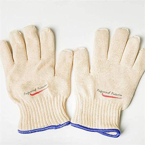 WFSH Guantes de Trabajo de Seguridad Guantes Resistentes a Alta Temperatura 300 °, 26 cm Barbacoa Alimento Horno Anti-Scalding Gloves, Aislamiento térmico, Splash Spark