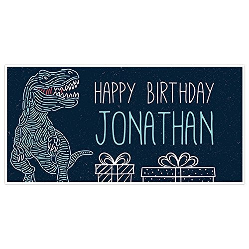 T REX Dinosaur Birthday Max 65% OFF Banner Party Limited price Personalized