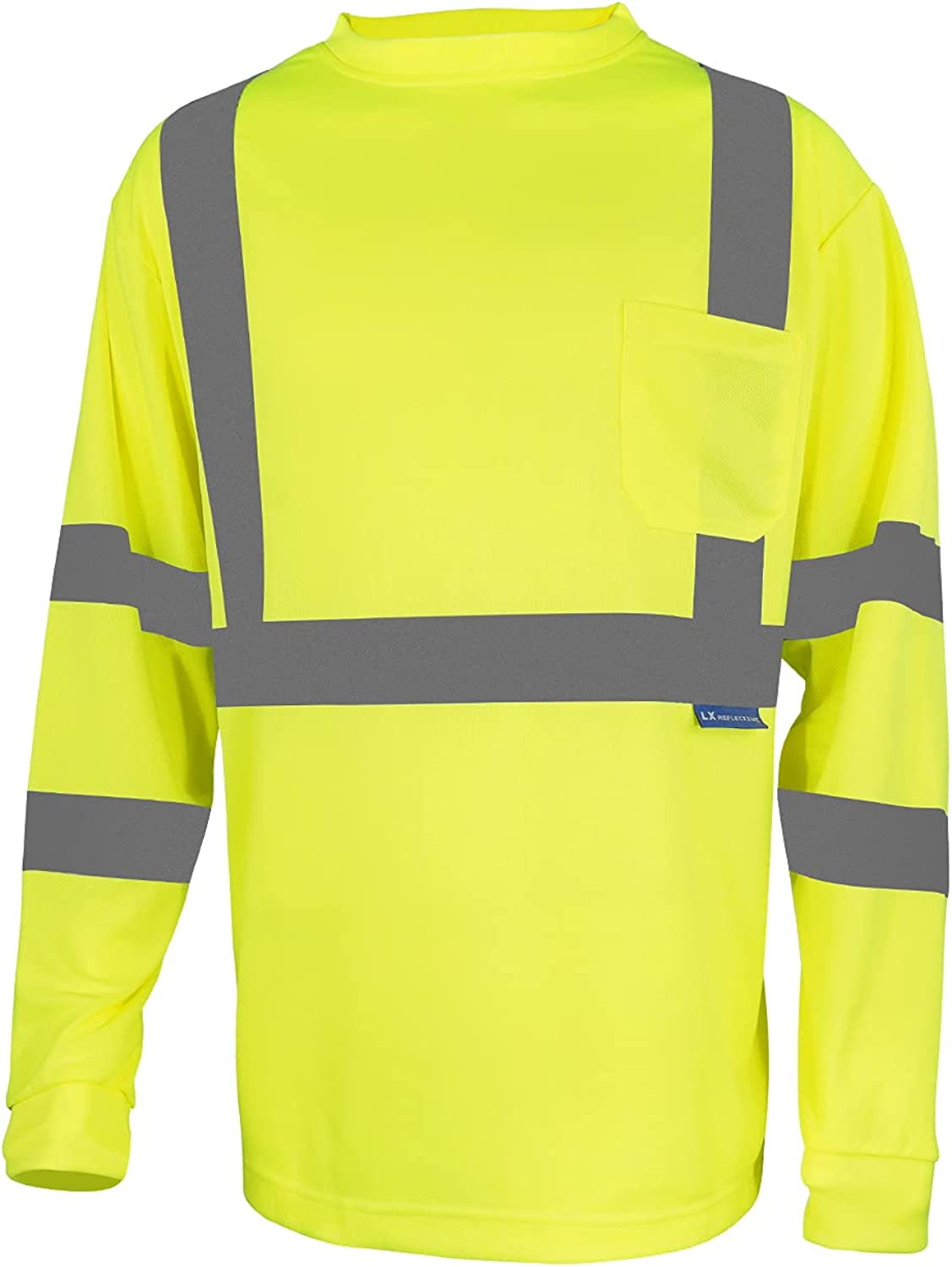LX Reflective High Inventory cleanup selling sale Visibility Safety Long Excellence Sle Shirt T