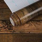 LZYMLG Pvc Holzmaserung Selbstklebende Tapete Küchenmöbel Kleiderschrank Renovierung Schlafsaal Schlafzimmer Büro Dekoration Wandaufkleber CC