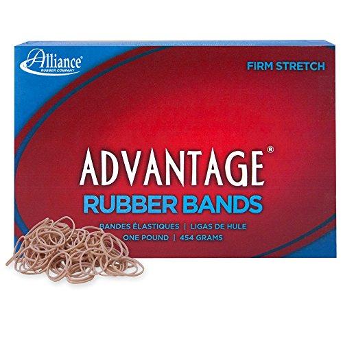 Alliance Advantage Rubber Band Grootte #10 (1 1/4 x 1/16 Inches) - 1 Pond Doos (Ongeveer 3700 Bands per Pond) (26105) door Alliance