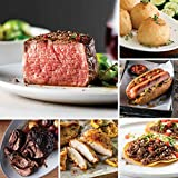 4 (5 oz.) Butcher's Cut Filet Mignons   1 (2 lbs.) Fully Cooked Pot Roast 4 (3 oz.) Fully Cooked Oven Roasted Chicken Breasts   2 (1 lb. pkgs.) Premium Ground Beef 8 (3 oz.) Gourmet Jumbo Franks   4 (2.88 oz.) Potatoes au Gratin 4 (4 oz.) Caramel App...