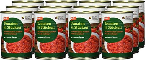 tegut... Tomaten in Stücken, 12er Pack (12 x 400 g)