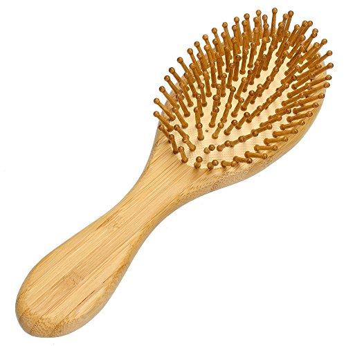 Neverland Beauty Anti statique Brosse à cheveux en bois bambou naturel à coussin de massage brosse à cheveux