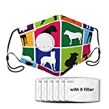 Dog Set Dust Cover with Valve for Cycling,Outdoor Activities(6 Pcs Filters)