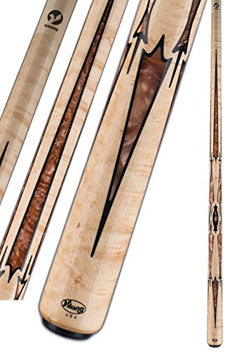 Great Features Of Viking A868 Birdseye Maple Black & Bronze Pearl Pool/Billiard Cue Stick - 13mm