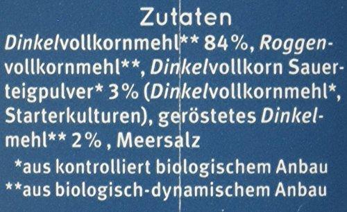 Bauckhof Dinkelbrot Vollkorn Demeter, 6er Pack (6 x 500 g) - 8