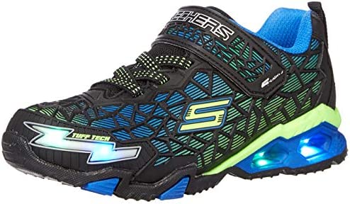 Skechers boys Lighted Lighs Lighted Sport Lighted Sneaker Black Blue Lime 1 Little Kid US product image