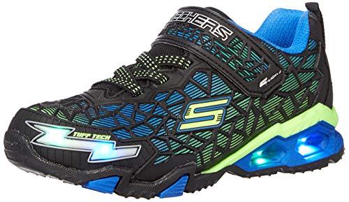 Skechers boys Lighted, Lighs, Lighted, Sport Lighted Sneaker, Black/Blue/Lime, 12 Little Kid US