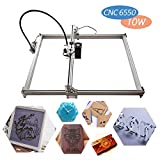 CNC Laser Graviermaschine, 10W Laserkopf, Yofuly 168 DIY 500x650mm CNC-Maschinenpräzision 0,1mm mit USB-Schnittstelle, Carving-Maschine für Holz, Kunststoff, Unterstützung von GRBL mit Schutzbrille