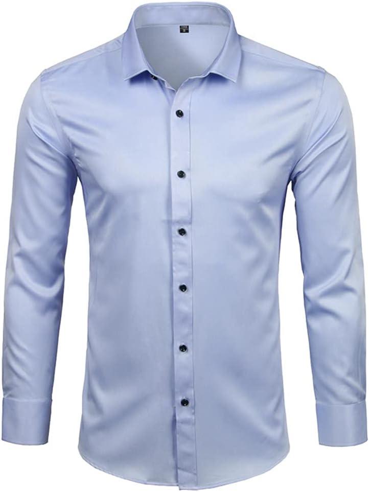 HLDETH Men's Dress quality assurance Shirts Casual Slim Male Socia Sleeve Fit Long Outlet sale feature