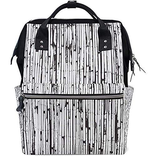 Daypack Old Art Bamboo Casual Mom Zipper Multi-Function Baby Bags Diaper Large Capacity Backpacks Backpack Travel Dad Unisex 28X18X40Cm
