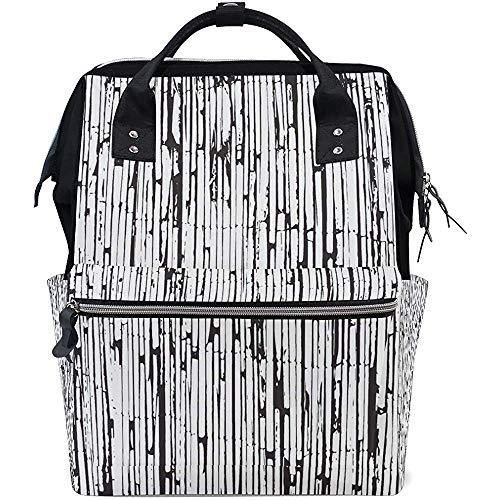 Daypacks Old Art Bamboo Casual Mom Zipper Multifunktions-Babytaschen Windel Große Kapazität Rucksäcke Rucksack Travel Dad Unisex 28X18X40Cm