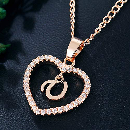 Janly Clearance Sale Women Earrings , Women Gift 26 English Letter Name Chain Pendant Necklaces Jewelry , Valentine's Day Birthday Jewelry Gifts for Ladies Girls (U)