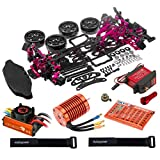 Hobbypower 1/10 Alloy Drift Chassis Kit Leopard 60A 4730KV DS3218MG Servo for D4 RWD